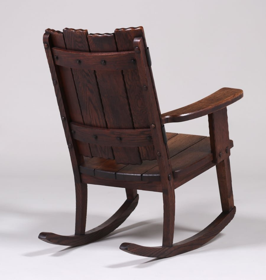 Michigan Chair Co Adirondack Camp Rocker c1920 - 3