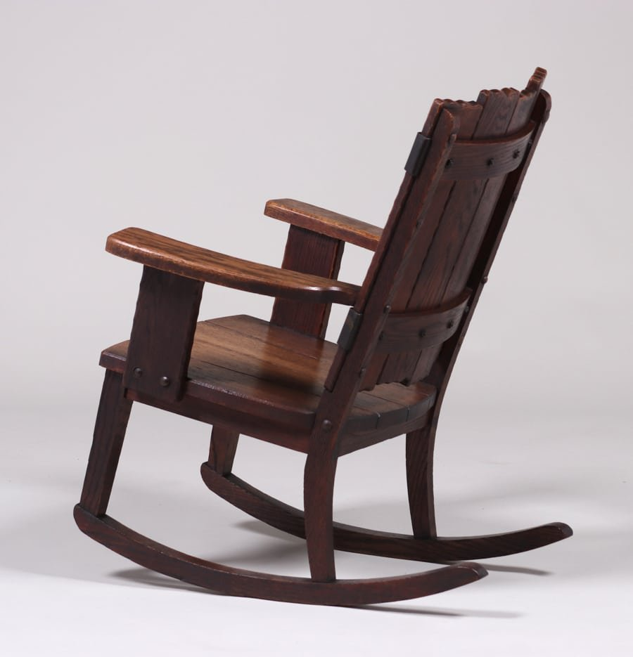 Michigan Chair Co Adirondack Camp Rocker c1920 - 4