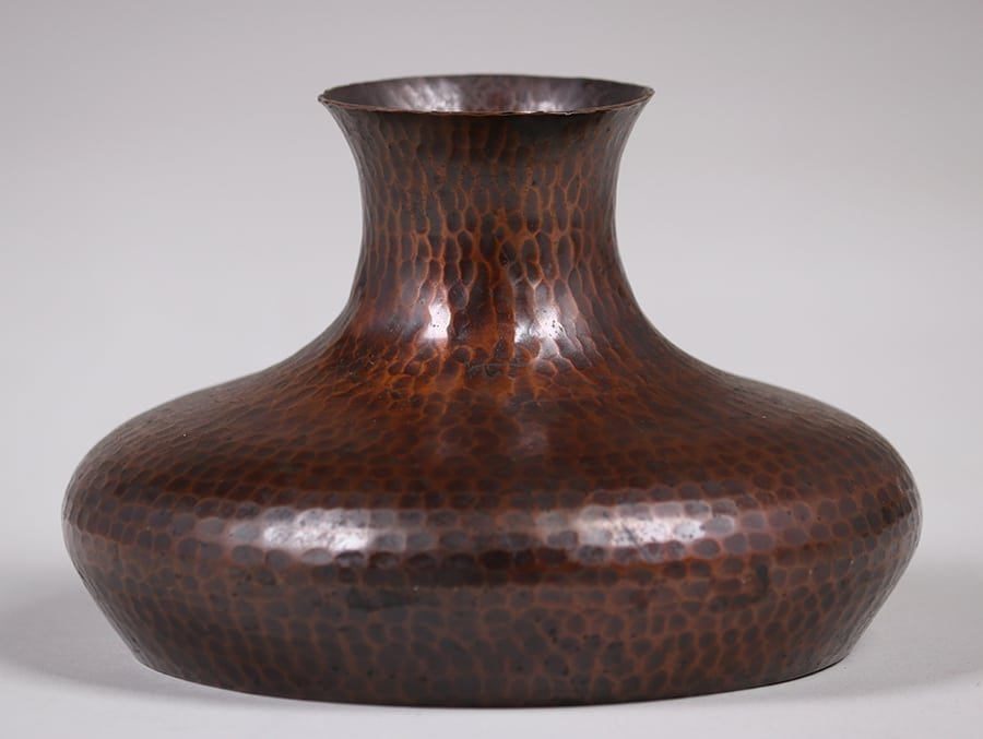 Roycroft Hammered Copper Squat Vase
