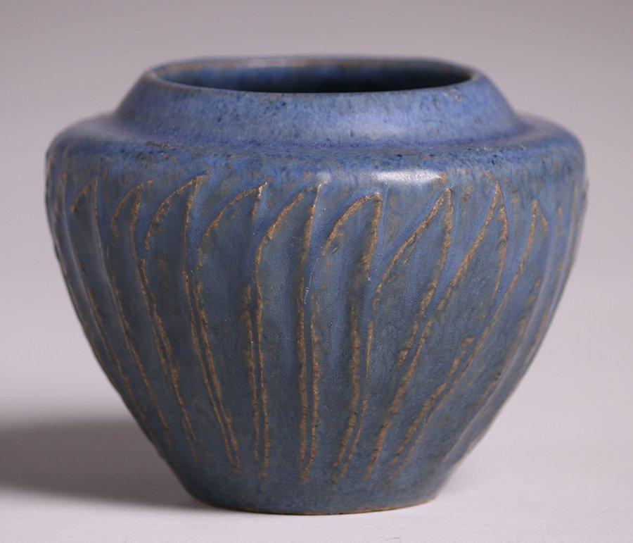 Arequipa Pottery Matte Blue Vase