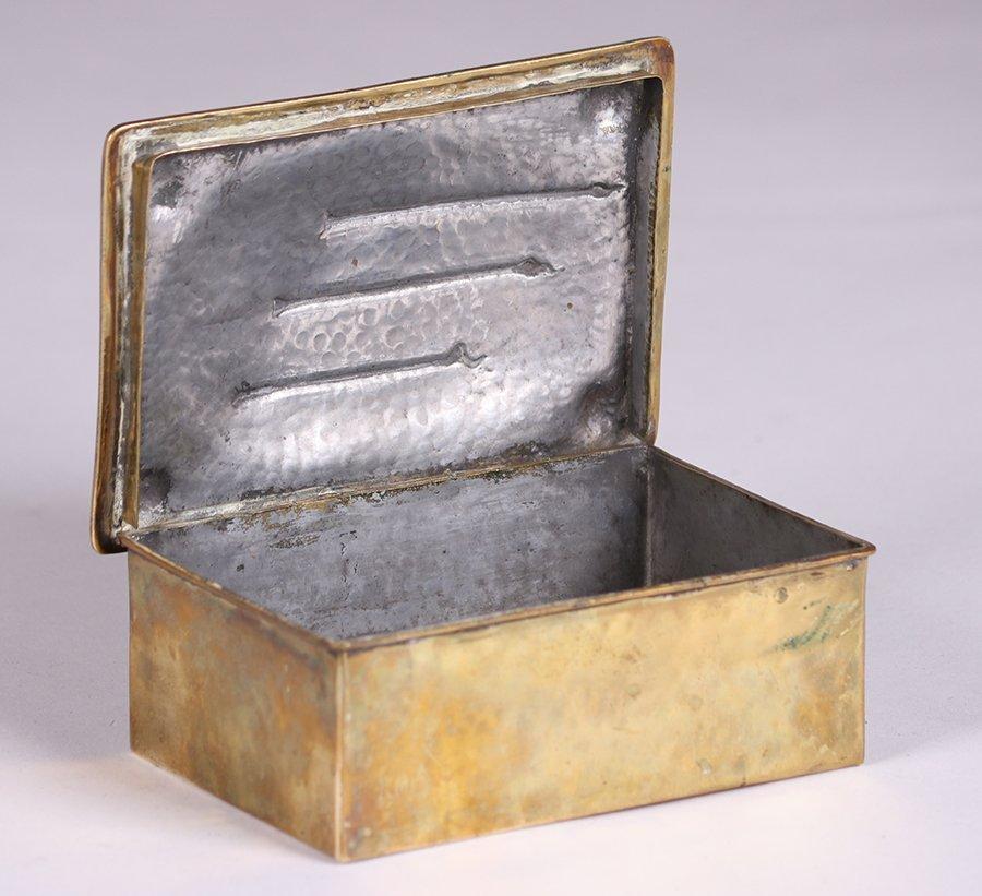 Arts & Crafts Hammered Brass Box c1910 - 2