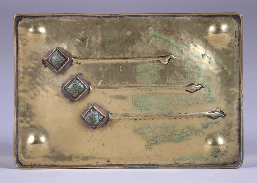 Arts & Crafts Hammered Brass Box c1910 - 5