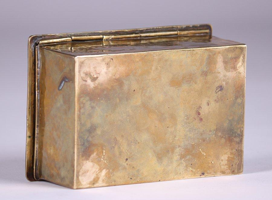 Arts & Crafts Hammered Brass Box c1910 - 6