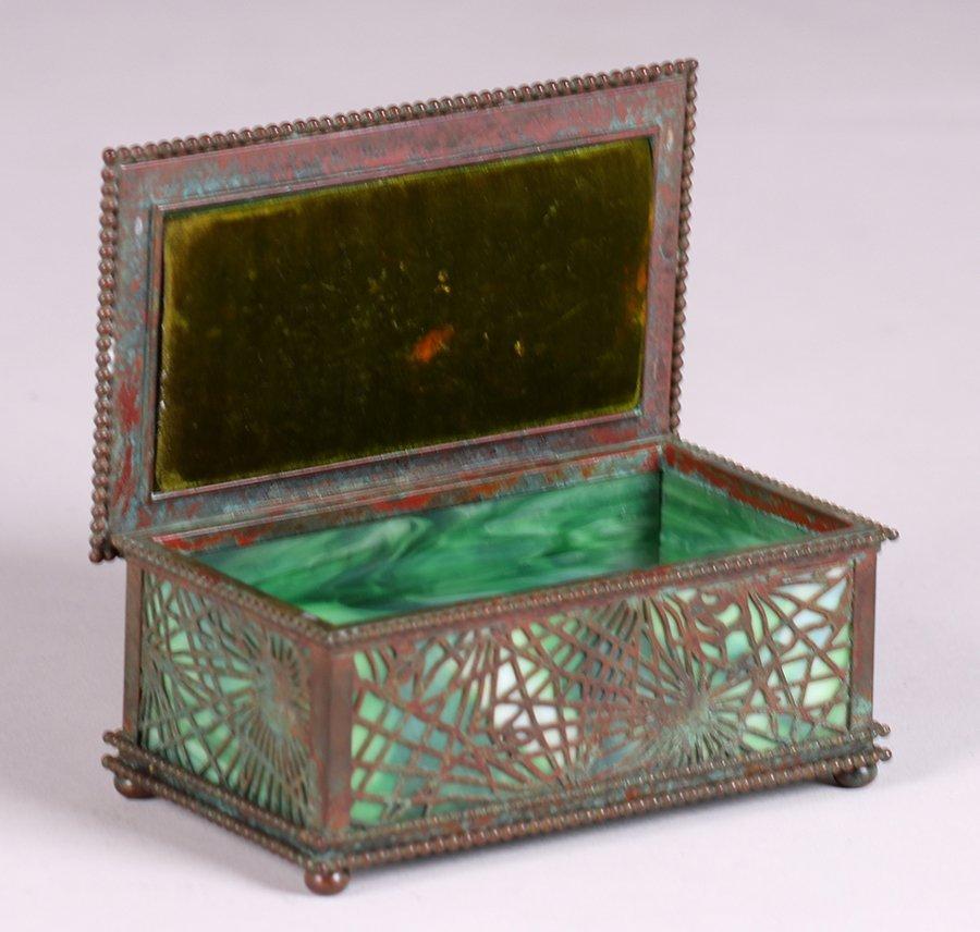 Tiffany Studios Bronze Overlay Pine Needle Box c1910 - 2
