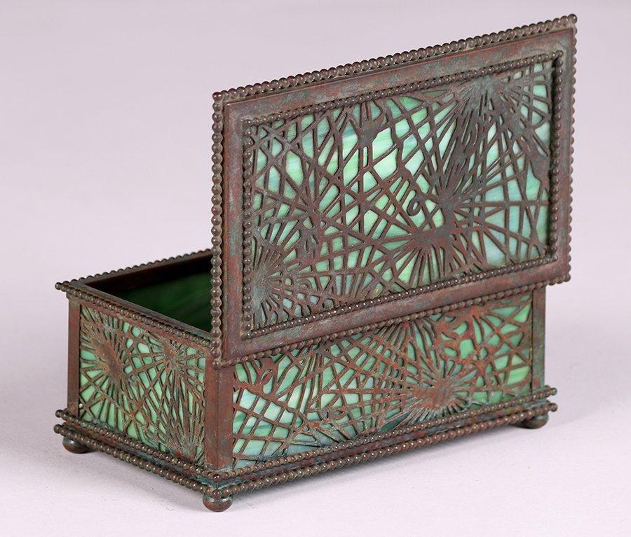 Tiffany Studios Bronze Overlay Pine Needle Box c1910 - 4