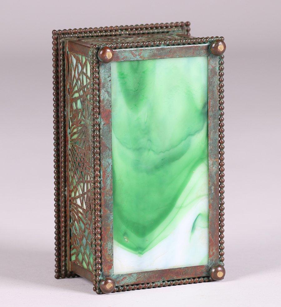 Tiffany Studios Bronze Overlay Pine Needle Box c1910 - 5