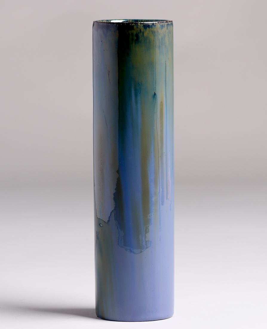 "Tall Fulper Pottery Cylinder Vase 13""h"