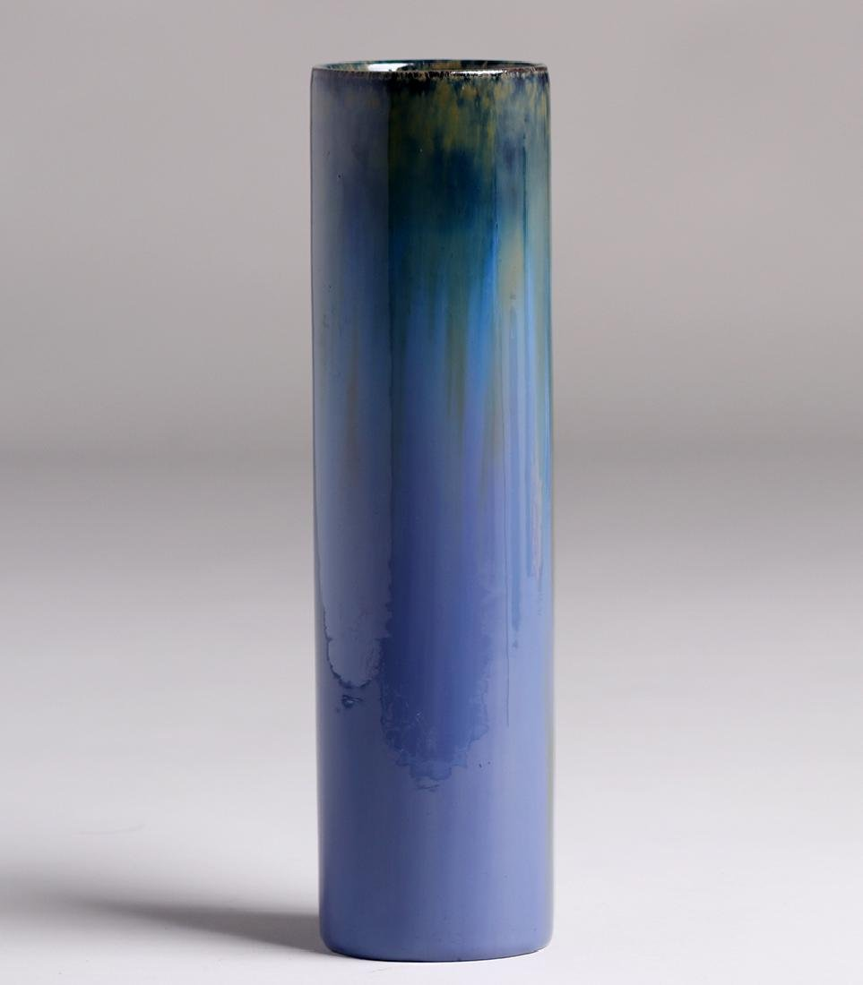 "Tall Fulper Pottery Cylinder Vase 13""h - 2"