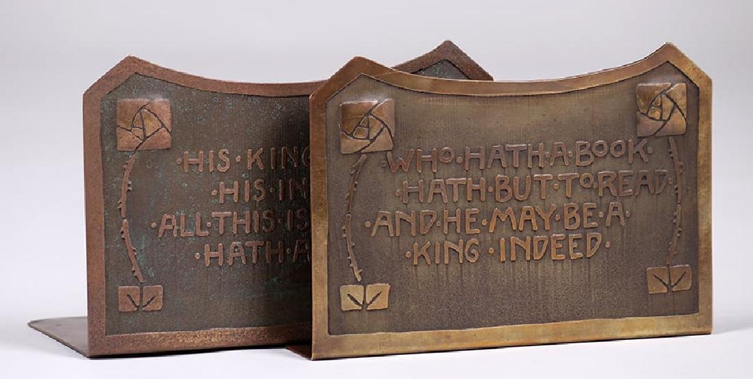 Carence Crafters Acid-Etched Motto Bookends