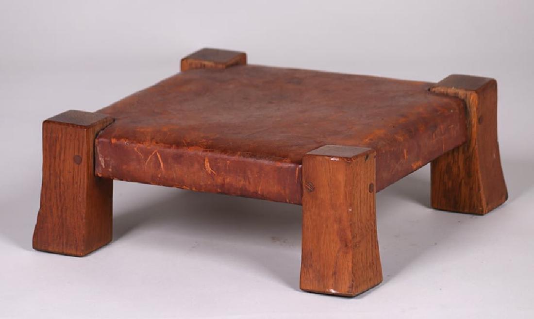 Gustav Stickley Monk Footstool c1905-1910
