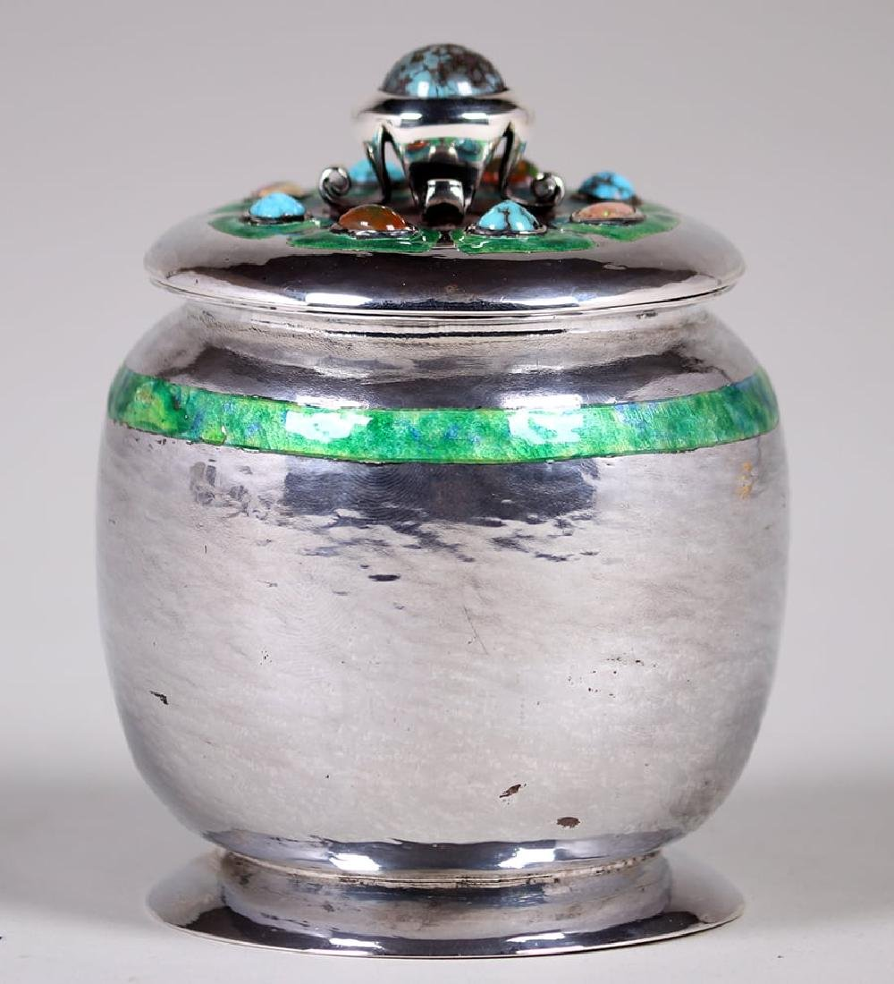 Liberty & Co Sterling Silver Jewel Encrusted Canister
