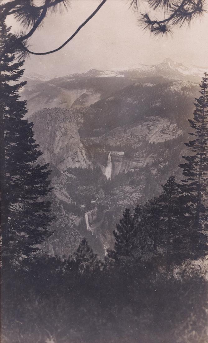 "Antique Yosemite Photo ""View from Glacier Point"" c1905"