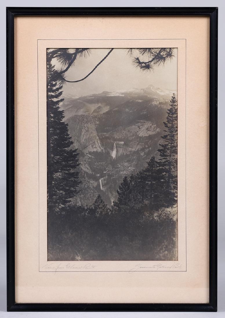 "Antique Yosemite Photo ""View from Glacier Point"" c1905 - 2"