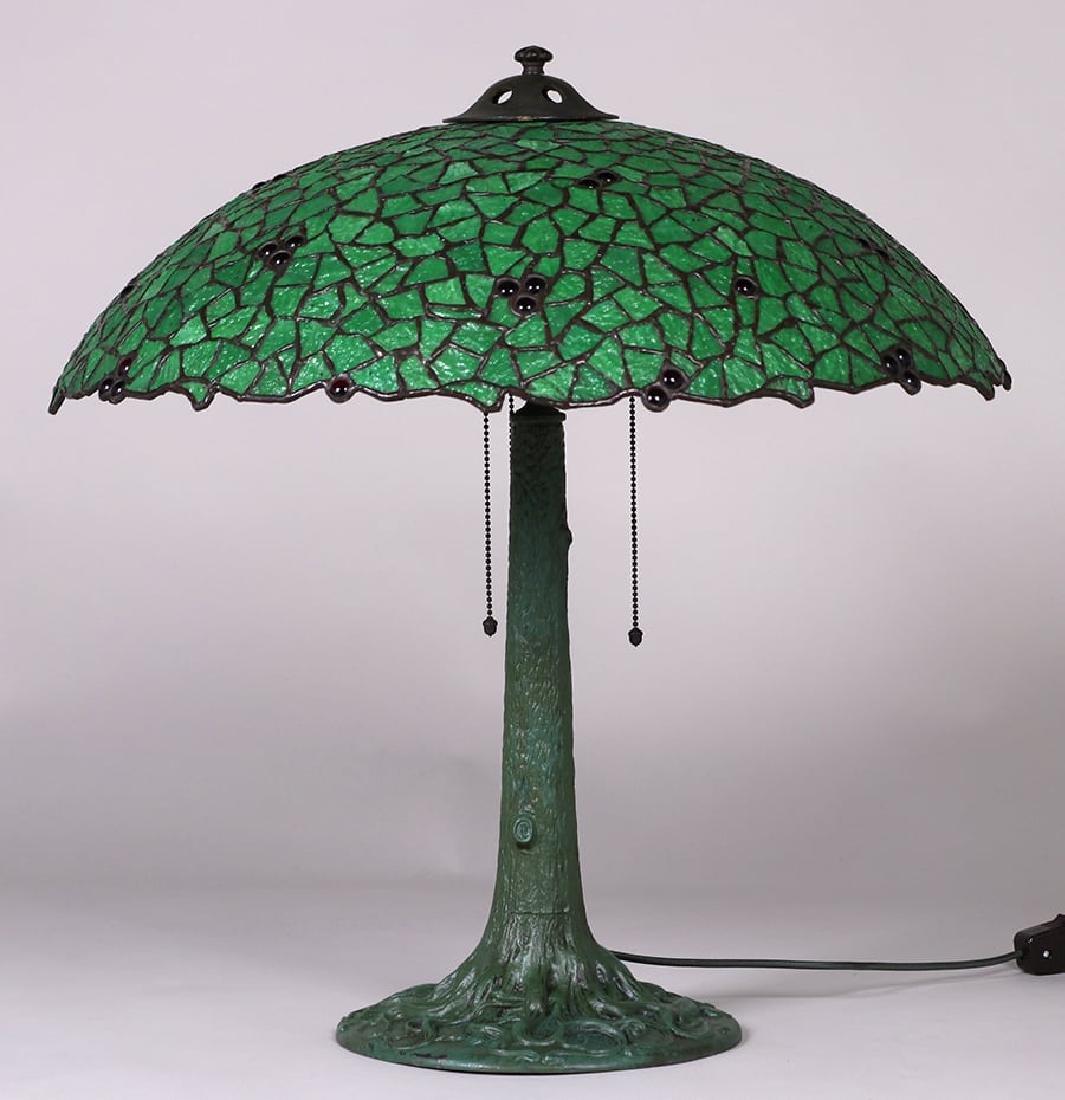 Phillip Semmer Leaded Glass Lamp c1910 - 2