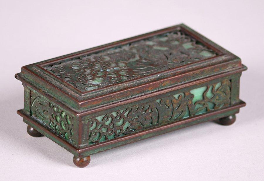Tiffany Studios Bronze Overlay Small Box