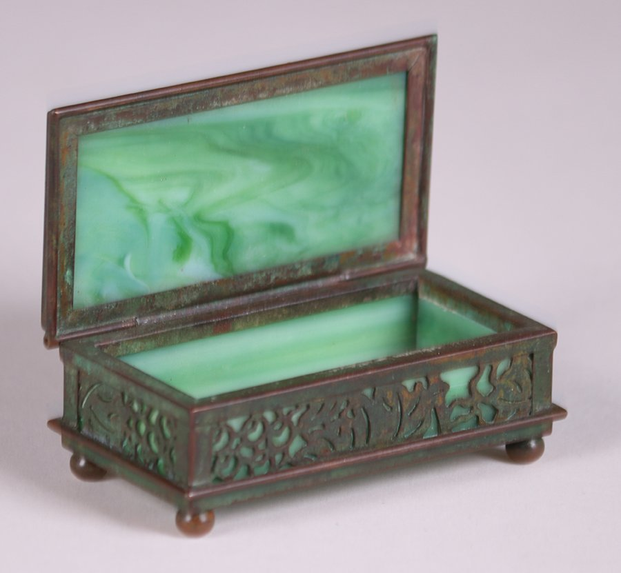 Tiffany Studios Bronze Overlay Small Box - 2