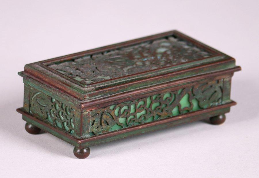 Tiffany Studios Bronze Overlay Small Box - 3