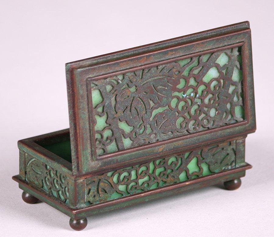 Tiffany Studios Bronze Overlay Small Box - 4