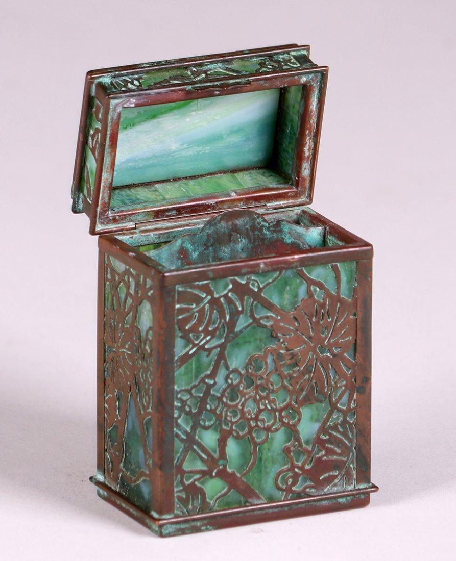 Tiffany Studios Bronze Overlay Double Card Box - 2