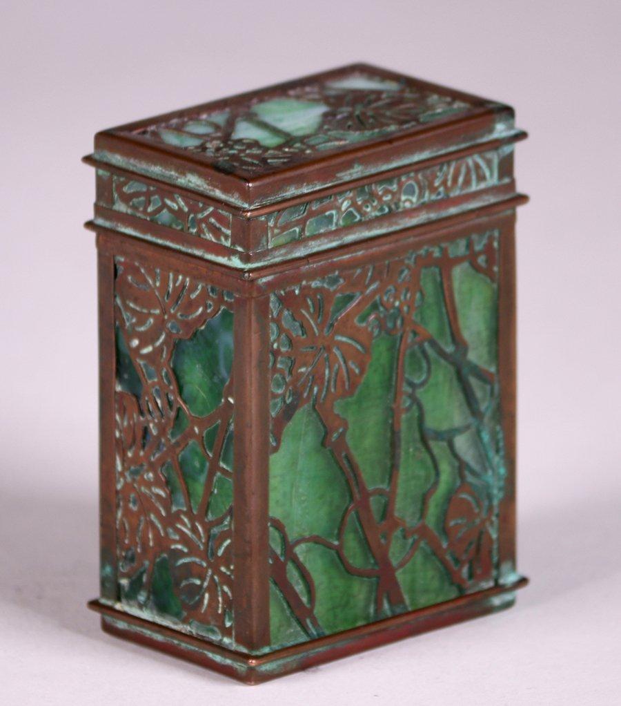 Tiffany Studios Bronze Overlay Double Card Box - 3