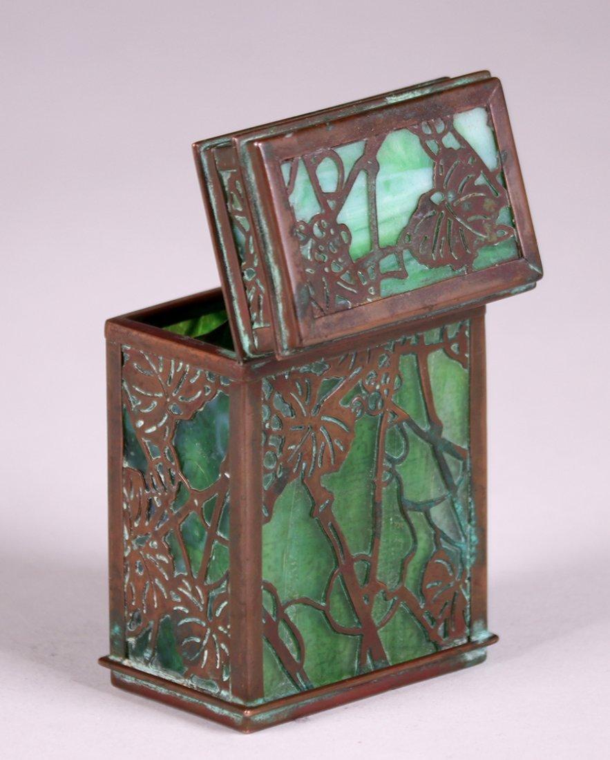 Tiffany Studios Bronze Overlay Double Card Box - 4