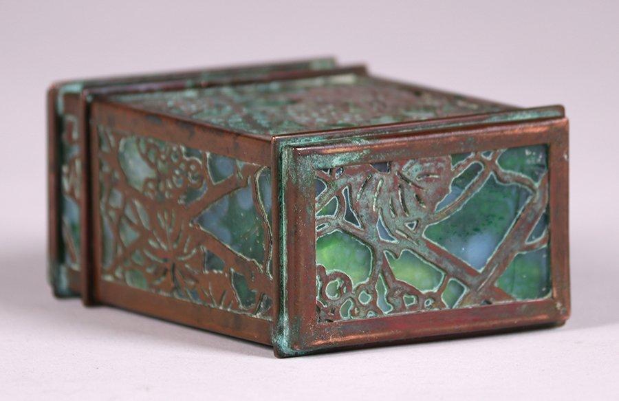 Tiffany Studios Bronze Overlay Double Card Box - 5