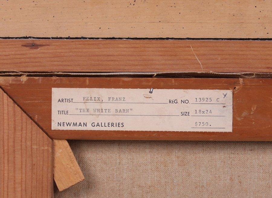 "Franz Felix Painting ""The White Barn"" WPA Era c1930s - 4"