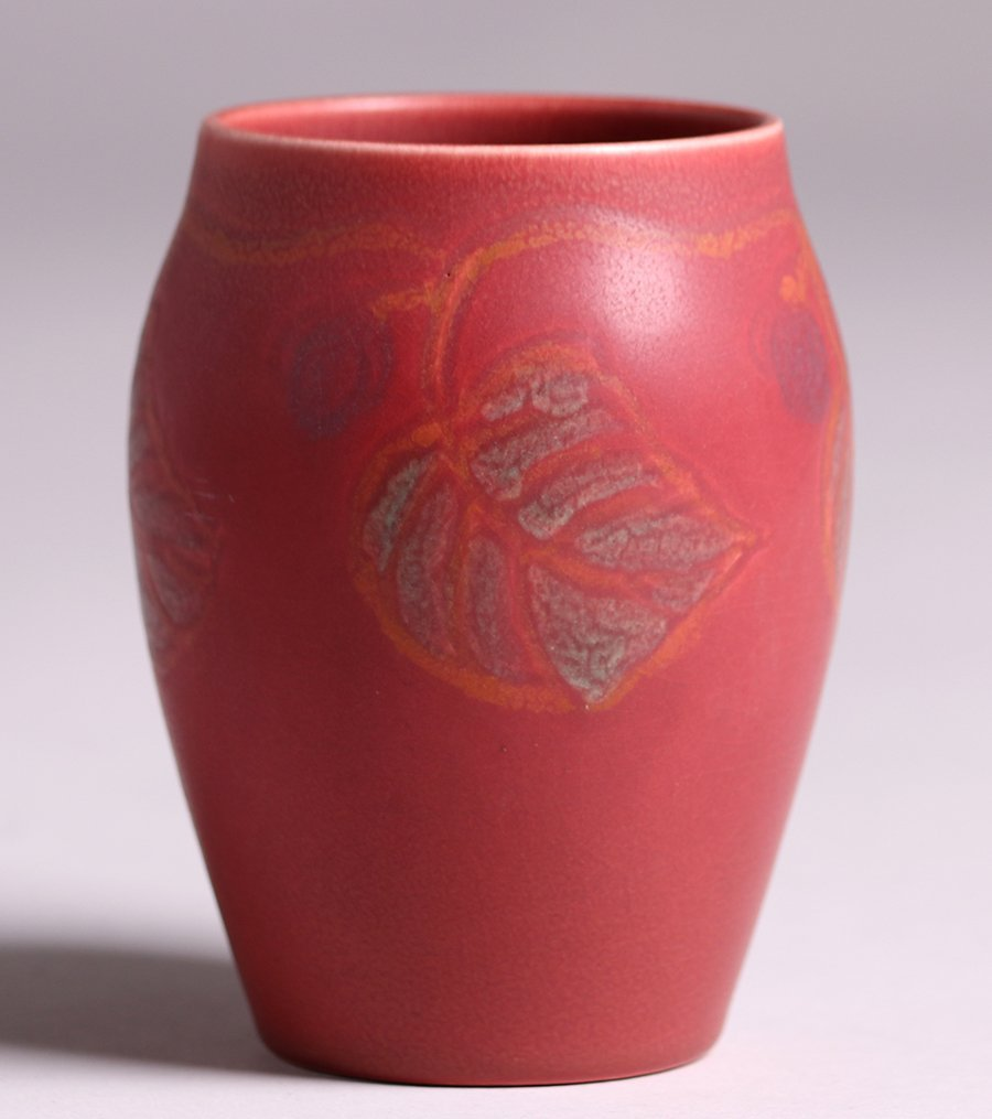 Rookwood Matte Red Vase Louise Abel 1919