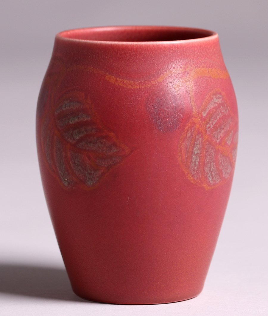 Rookwood Matte Red Vase Louise Abel 1919 - 2