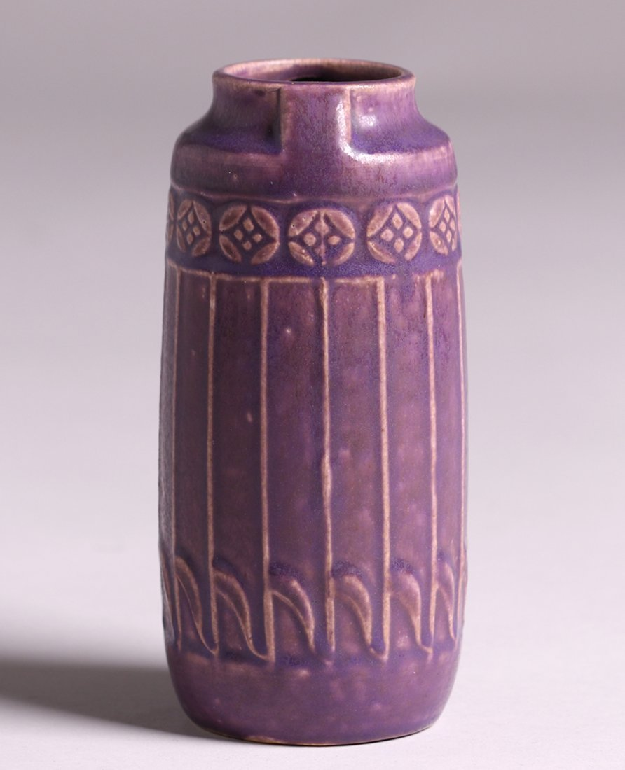 Rookwood Matte Purple Vase 1914 - 3