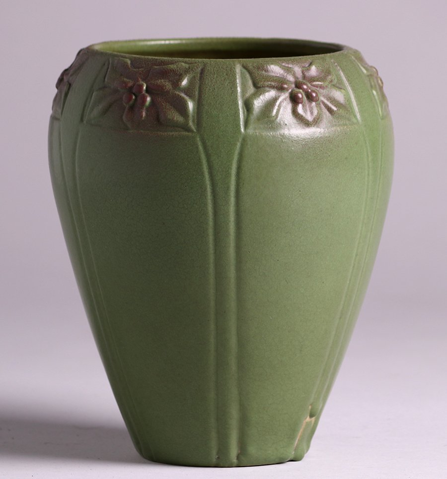 Early Van Briggle 1906 Matte Green Vase