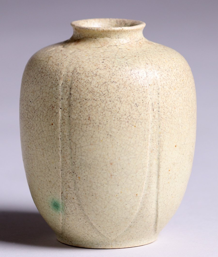 Grueby Pottery Matte White Vase