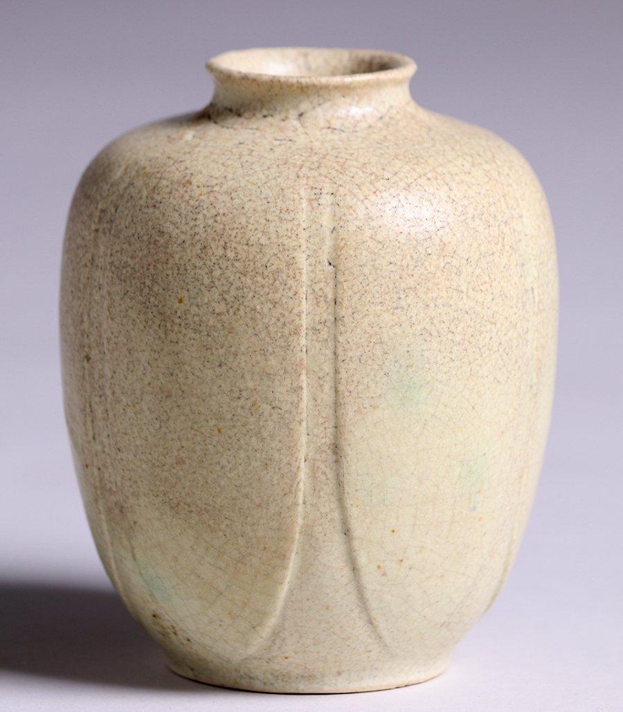 Grueby Pottery Matte White Vase - 2