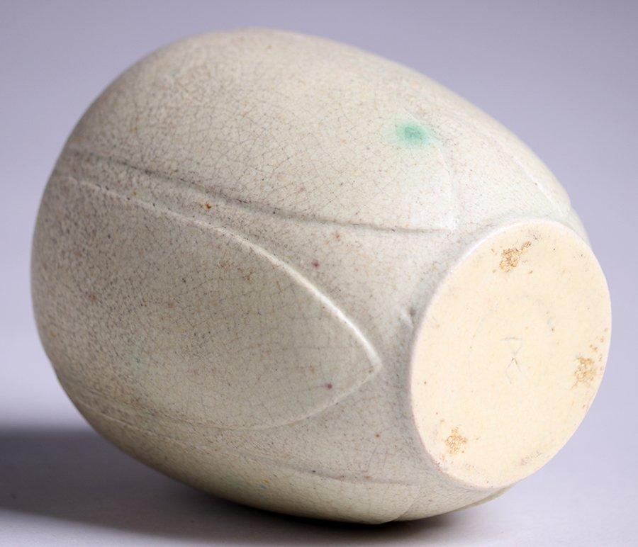Grueby Pottery Matte White Vase - 3