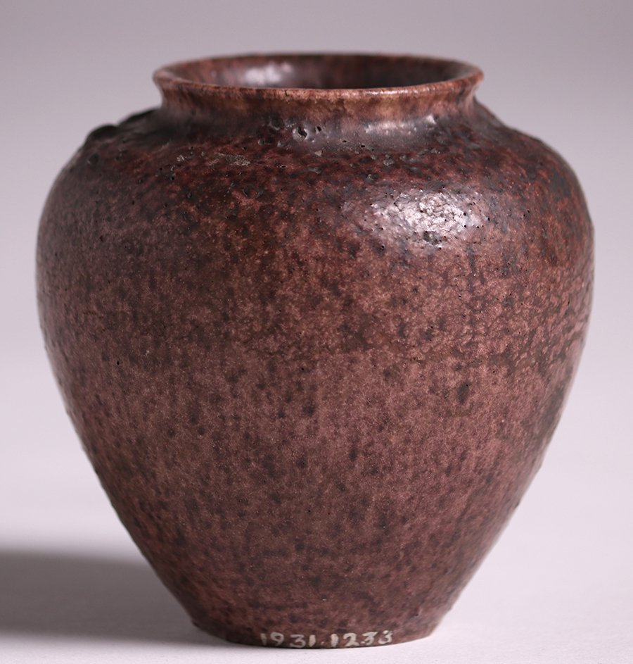 Grueby Pottery Small Matte Brown Vase