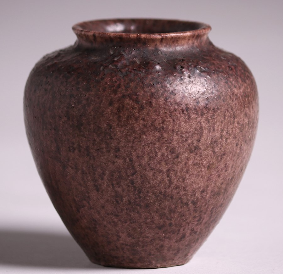Grueby Pottery Small Matte Brown Vase - 2