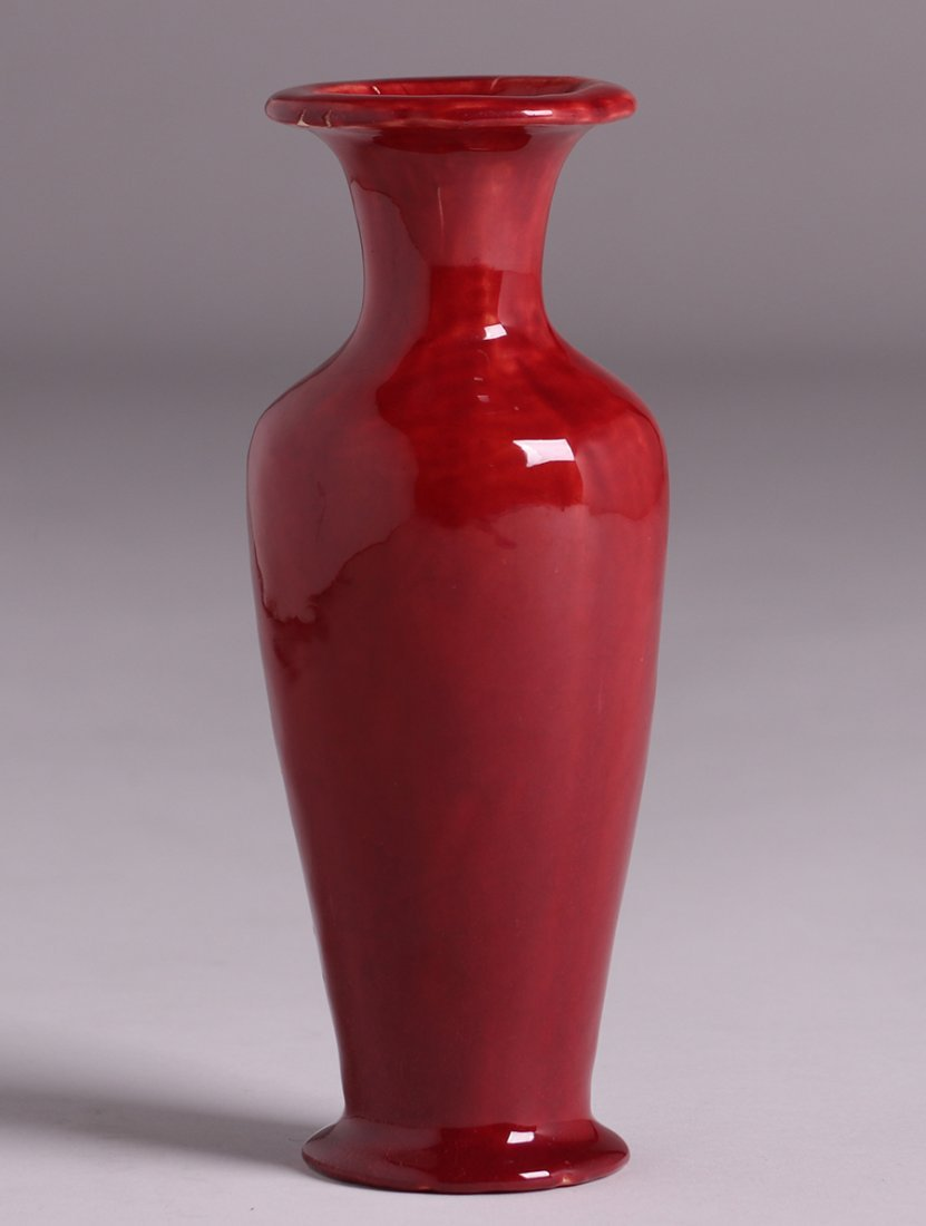 Lucille Newton Red Oxblood Flared Vase c1910