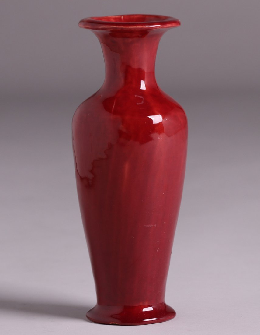 Lucille Newton Red Oxblood Flared Vase c1910 - 2