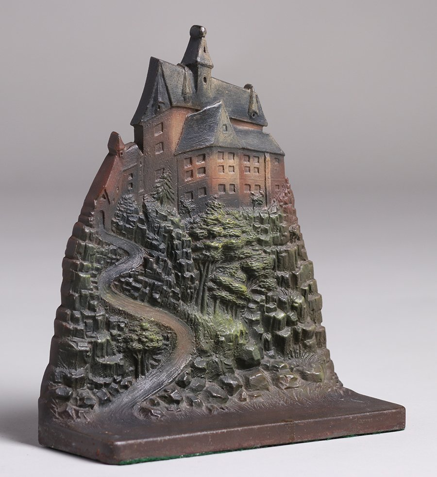 Bradley & Hubbard Cast Iron Castle on Hill Door Stop