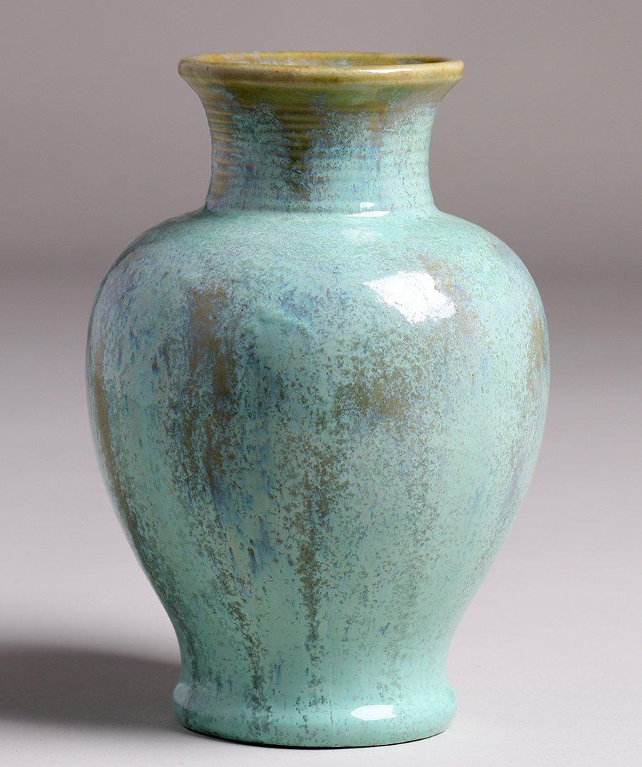 Fulper Pottery Light Green Vase - 2