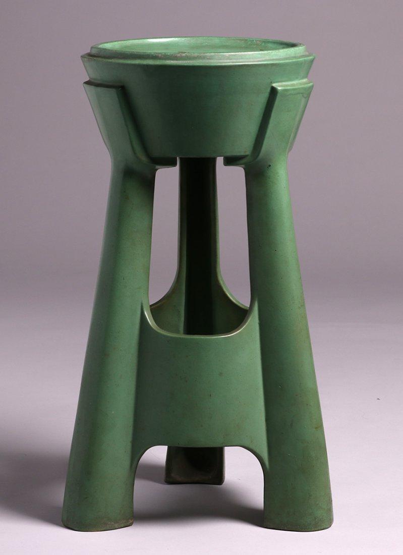 Roseville Matte Green Pedestal Base