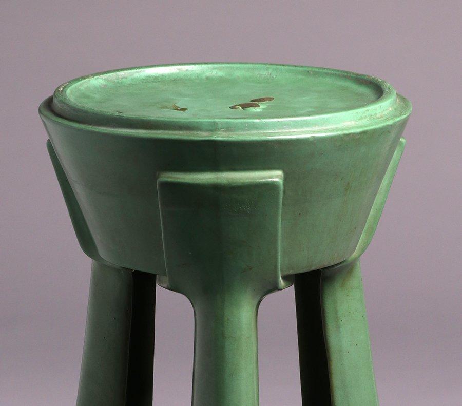 Roseville Matte Green Pedestal Base - 3