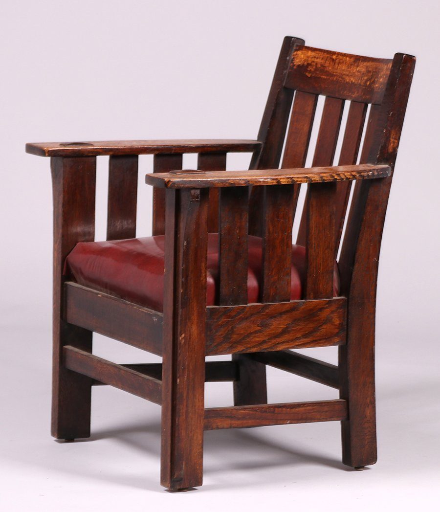 Charles Stickley Slatted Armchair