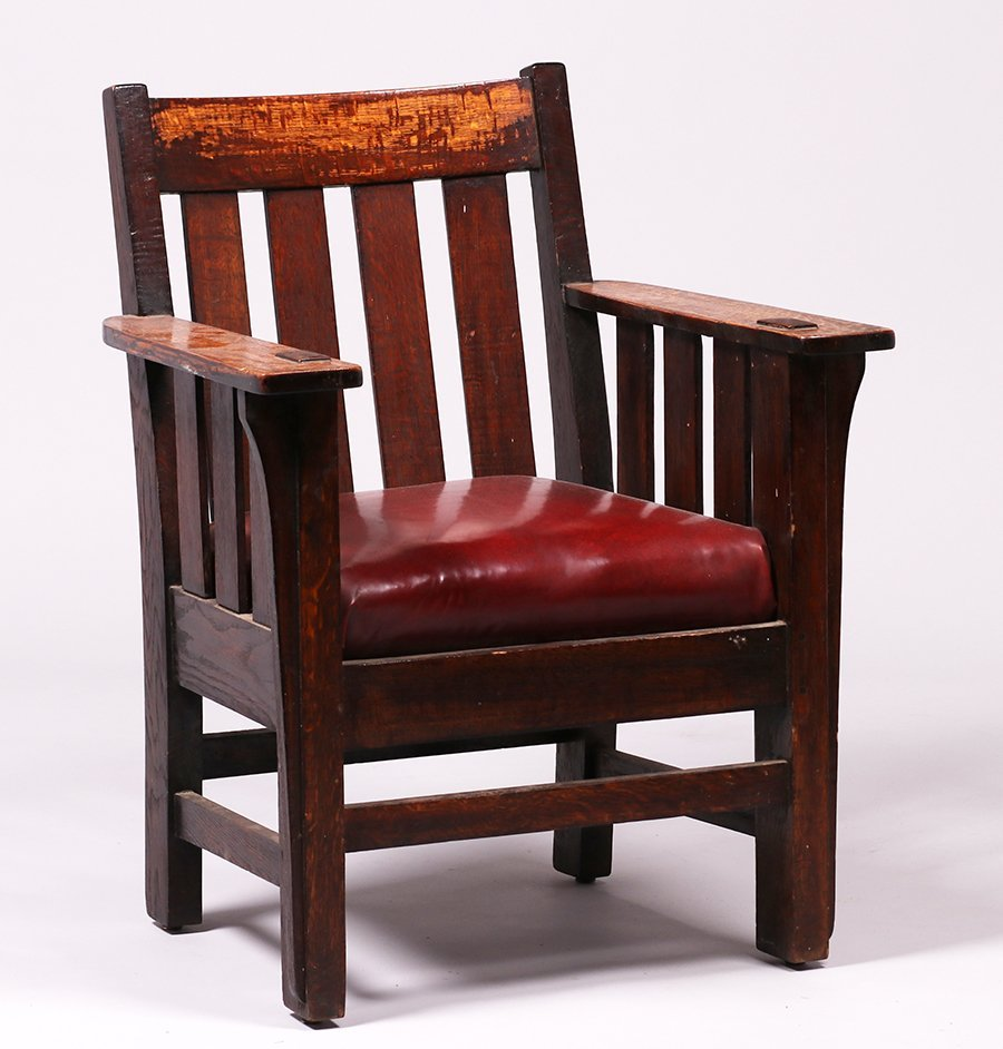 Charles Stickley Slatted Armchair - 2