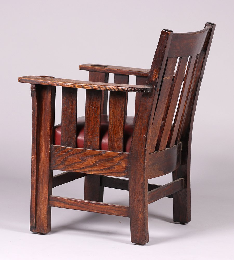 Charles Stickley Slatted Armchair - 3