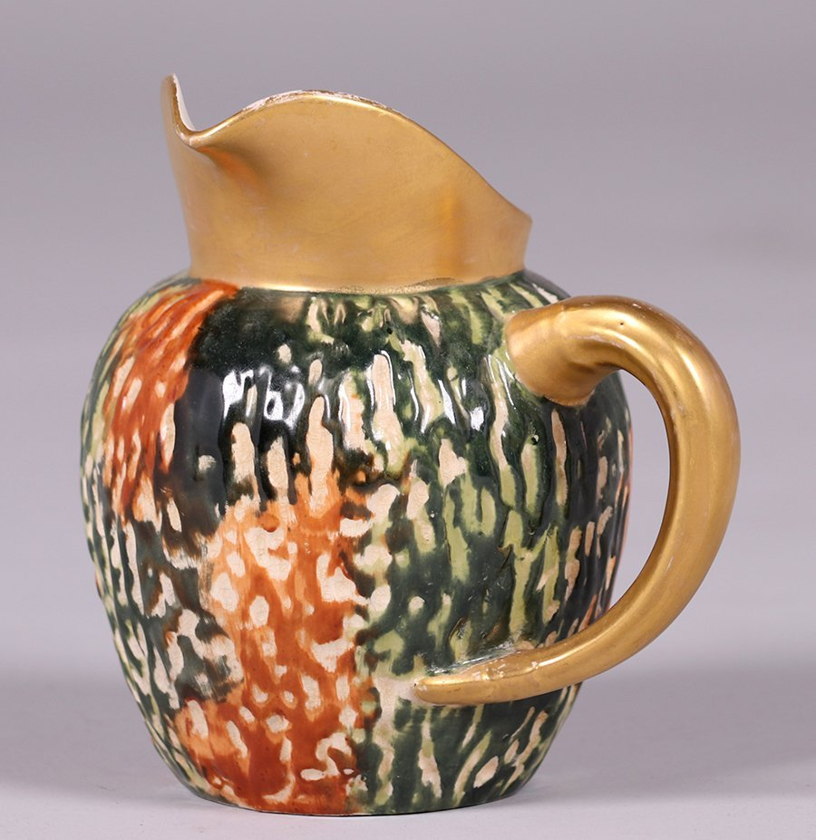 Early Hampshire Pottery Pitcher c1880s