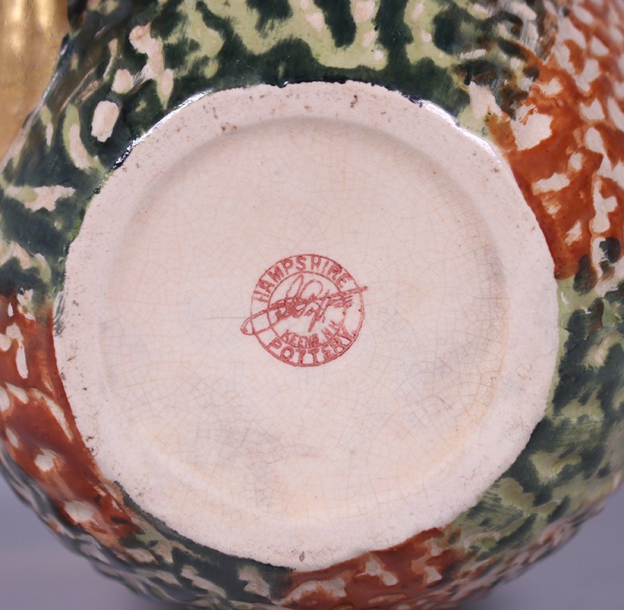 Early Hampshire Pottery Pitcher c1880s - 2