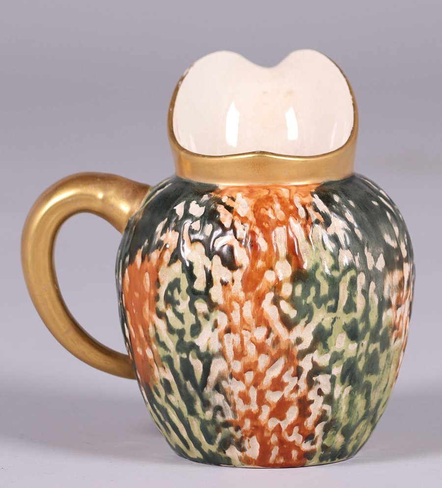 Early Hampshire Pottery Pitcher c1880s - 3