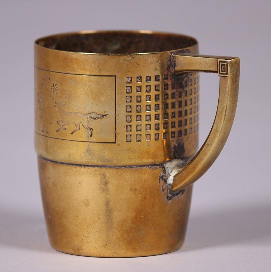 WMF German Arts & Crafts Brass Cup c1910s - 3