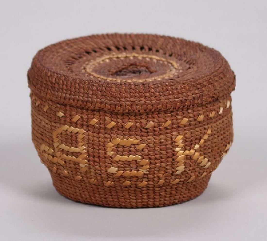 "Native American ""Alaska"" Basket c1900-1920 - 2"
